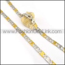 Exquisite Two Tone Plated Necklace n000623