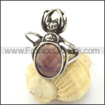 Dark Red Stone Beetle Ring  r001150