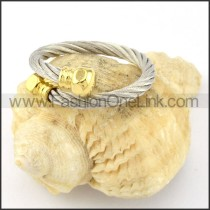 Stainless Steel Classic Rope Ring r000593