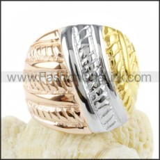 Stainless Steel Hollowed-out Ring r000040