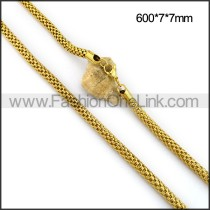 Delicate Gold Plated Necklace n001100
