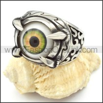 Stainless Steel Prong Setting Eye Ring r000322