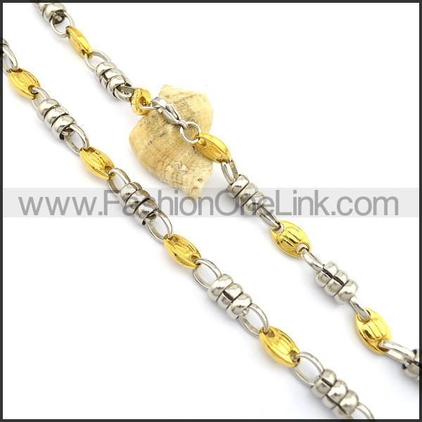 Delicate Gold and Silver Plated Necklace n000779