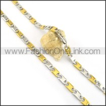 Two Tone Plated Necklace n000619