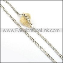 Hot Selling Stainless Steel Stamping Necklace n000547