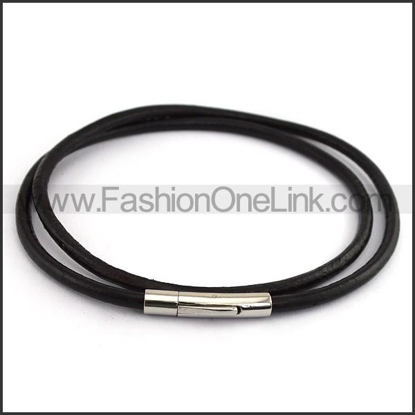 Black Rubber Necklace n001207