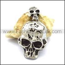 Unique Stainless Steel Skull Pendant  p001882