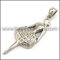 Delicate Stainless Steel Casting  Pendant    p003382