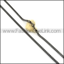 Delicate Black Plated Necklace  n000506