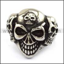 Stainless Steel Skull Ring  r003696