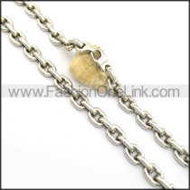 Interlocking Chain Stamping Necklace n000931