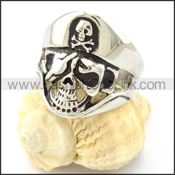 Stainless Steel Fashion Skull Ring r000679