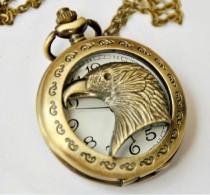 Vintage Goshawk Head Pocket Watch Chain PW000067