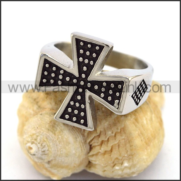 Stainless Steel Cross  Ring r003372