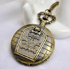 Vintage TIM BUKTONS\'S THE NIGHTMARE BEFORE CHRISTMAS Pocket Watch PW000089