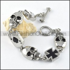 Cross and Skull Bracelet b000260