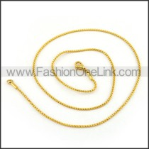 Chic Stainless Steel Plated Necklace n001220