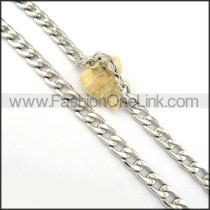 Interlocking Chain Stamping Necklace       n000290