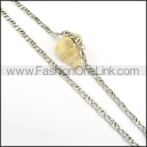 Delicate Stainless Steel Stamping Necklace n000546