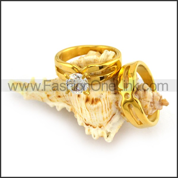 Stainless Steel Couple Rings      r003643