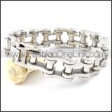 Exquisite Silver Biker Bracelet b000357