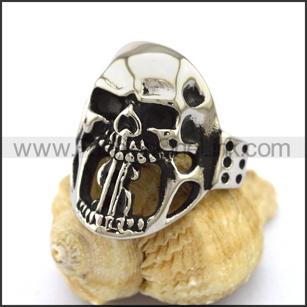 Unique Stainless Steel Skull Ring  r003200