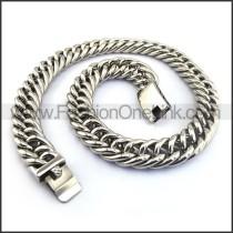 Interlocking Stamping Necklace n001140
