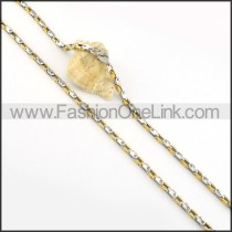 Golden and Silver Plated Necklace    n000216