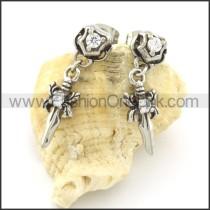 Fashion Stainless Steel Stone Earrings   e000662
