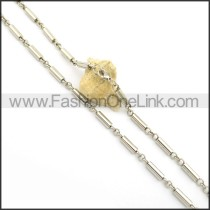 Cylinder Stamping Necklace n000925