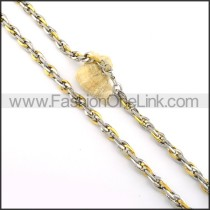 Golden and Silver Plated Necklace  n000360
