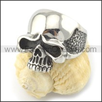 Stainless Steel Wicked Skull Ring r001147
