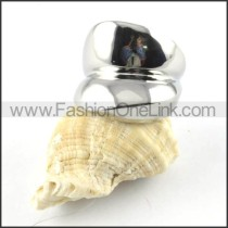 Stainless Steel Smooth Surface Design Ring r000148