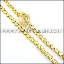 Golden Plated Necklace n000582