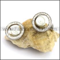 Fashion Stainless Steel Stone Earrings    e001093