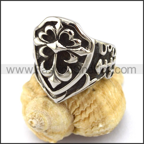 Delicate Stainless Steel Cross Ring   r002937