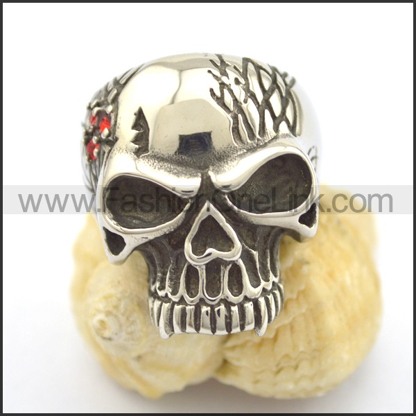 Exquisite Stainless Steel Skull Ring  r001785