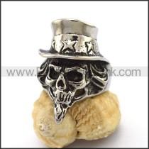 Delicate Stainless Steel Skull Ring  r003168