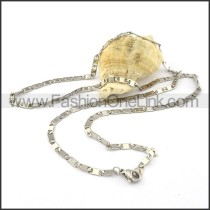 Chic Silver Stamping Necklace    n000298