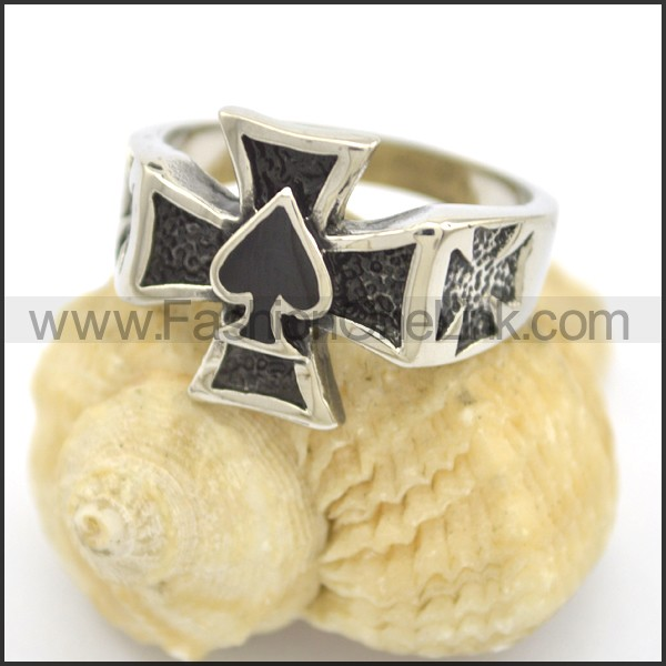 Delicate Cross Stainless Steel Ring  r002405