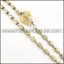 Chic Golden and Silver Plated Necklace    n000174