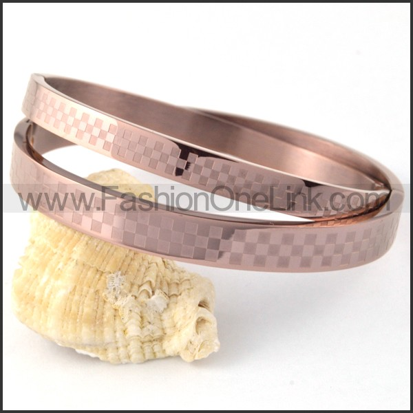 Rose Red Mosaic Couple Bangle b000403