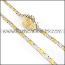 Succinct Golden Plated Necklace n000621