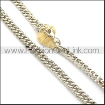 Interlocking Stainless Steel Stamping Necklace n000953