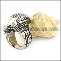 Fashion Stainless Steel Alien Ring r001054