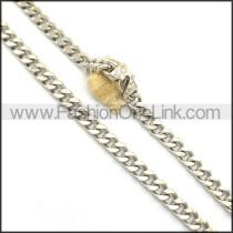 Silver Interlocking Necklace n000987
