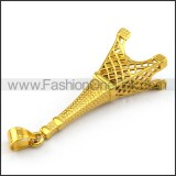Delicate Stainless Steel Plating Pendant   p003389