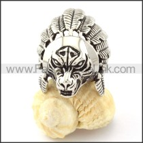 Stainless Steel  Tribal People Design  Ring r000701