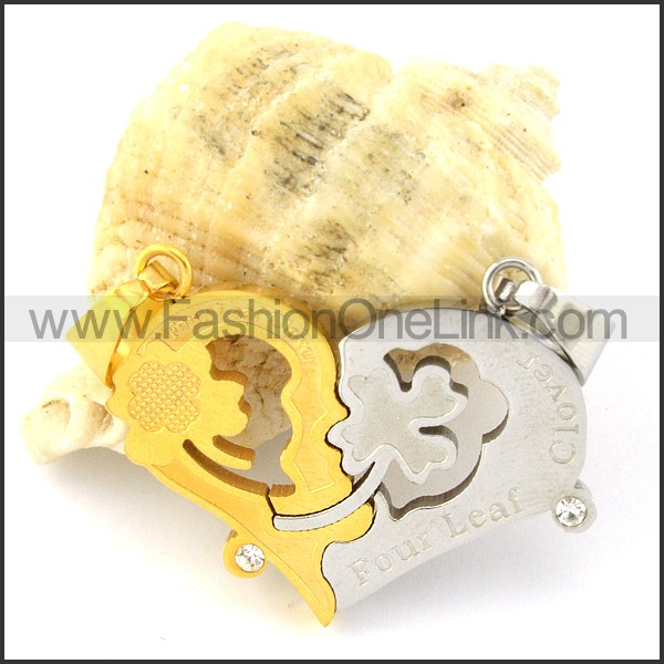 Exquisite Stainless Steel Couple Pendant  p000956