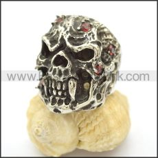 Unique Skull Stainless Steel Ring  r002469